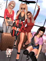 ◈№. 910 - girls weekend (Alica Release) Tags: ncore candydoll adorsycatwa maitreya holidays airport doux girls sexy sweet dog friendship level event events levelevent cosmopolitan sophie trina perse blog