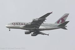 A7-APG - 2016 build Airbus A380-861, on approach to Runway 23R at Manchester - Heathrow diversion (egcc) Tags: 193 a380 a380861 a388 a7apg airbus egcc lightroom man manchester qr qtr qatarairways ringway