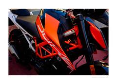 KTM 390 Duke (G. Postlethwaite esq.) Tags: 390duke autonomousregion dof funchal ktm madeira portugal unlimitedphotos bokeh closeup depthoffield motorbike motorcycle photoborder selectivefocus fujix100t