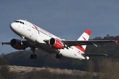 OE-LDA Airbus A319-112 EGPH 08-02-20 (MarkP51) Tags: oelda airbus a319112 a319 austrianairlines os aua edinburgh airport edi egph scotland airliner aircraft plane image markp51 nikon d500 sunshine sunny airplane nikon200500f56vr