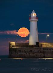 Supermoon @ Donaghadee (Deek Wilson) Tags: donaghadee lighthouse supermoon night afterdark seascape harbour northernireland