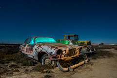 Jaw Dropping Jag (dejavue.us) Tags: lightpainting longexposure d850 abandoned nikon car 140240mmf28 fullmoon jaguar nikkor automobile california nightphotography