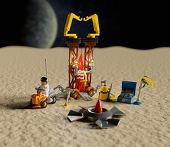 Febrovery 2020 Day 09: 'Snowy' Rocket changeover (Littlepixel™) Tags: ncs 2020 neo classic space lego buggy rover febrovery benny rocket tintin render ldraw bricksmith minifig apollo