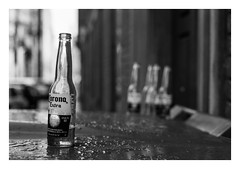 FILM - Empties (fishyfish_arcade) Tags: 35mm analogphotography bw blackwhite blackandwhite filmphotography filmisnotdead hp5 istillshootfilm monochrome nikkor50mmf18afd nikonf80 analogcamera film ilford mono bottles sheffield