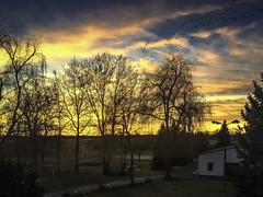 The Sky's On Fire (dietmar-schwanitz) Tags: blankensee brandenburg germany deutschland apple lightroom dietmarschwanitz sonnenuntergang sunset goldenhour goldenestunde