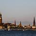 Hamburg churchscape and cityscape