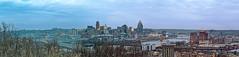 The City of Cincinnati, Panorama (Just By Chance Photography) Tags: cincinnati cincinatti cityscape city landscape ohio vintage panorama devou park devoupark dreespark dreepark overlook overwatch canon t6 18135mm stm