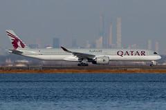 A7-ANM | Airbus A350-1041 | Qatar Airways (cv880m) Tags: newyork jfk kjfk kennedy johnfkennedy aviation airliner airline aircraft airplane jetliner airport spotting planespotting a7anm airbus a350 35x 3501000 3501041 qatar qatari qatarairways swoosh oryx manhattan