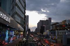 evening (ababhastopographer) Tags: 谷町筋 tanimachisuji structures osaka abeno winter evenig reflection sky cloud city tennōji 大阪 天王寺 阿倍野 冬 夕景 空 雲 反射 構造物