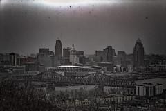 The City of Cincinnati, Faded (Just By Chance Photography) Tags: cincinnati cincinatti cityscape city landscape ohio vintage panorama devou park devoupark dreespark dreepark overlook overwatch canon t6 18135mm stm