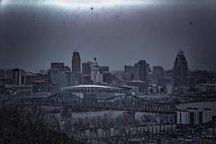 The City of Cincinnati, Darker Tones (Just By Chance Photography) Tags: cincinnati cincinatti cityscape city landscape ohio vintage panorama devou park devoupark dreespark dreepark overlook overwatch canon t6 18135mm stm