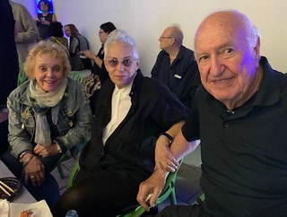 Don and Mera Rubell with Artist Sheila Elias at the de la Cruz Collection lecture