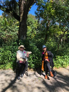 A beautiful Sunday at the Fairchild Botanical Garden: Carol Damian and Liana Perez enjoying nature
