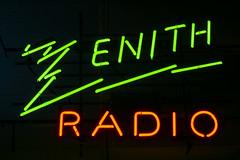 Zenith Radio (GmanViz) Tags: gmanviz color sonya6000 neon sign window clintonville columbus ohio type lettering
