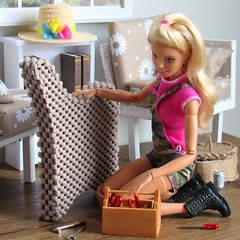 If at first you don't succeed (back2s0ul) Tags: diy barbie doll couch loveseat sofa sectional diorama 16 camping fun