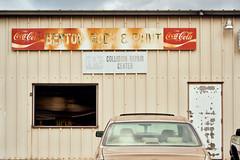 Benton Body & Paint (Dysfunctional Photographer) Tags: car window sign building door paintbody shop garage benton arkansas 2020 usa nikon nef raw captureone cloudy day
