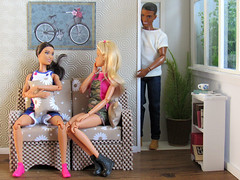 Gossip Girl (back2s0ul) Tags: diy barbie doll couch loveseat sofa sectional diorama 16 ken black aa fresh squad hybrid madetomove tall basketball player camping fun