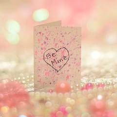 Be Mine (ladybugdiscovery) Tags: macromonday painted macro pink lavender card valentine heart