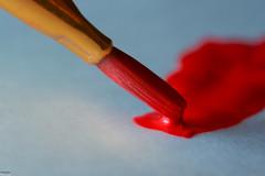 ... painted red ... (wolli s) Tags: hmm macromondays mondays painted pinsel brush macro makro paintbrush red rot