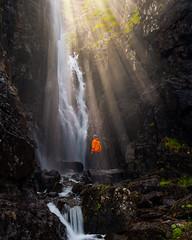 Sunrays in secret cove on Faroe Islands, August 2019 (ralfelfving) Tags: sunrays sunray explore cove cave rocks hike arcteryx outdoors sony a7riii bealpha waterfall waters
