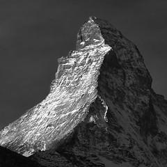 Matterhorn (Martin Majc0 Brechtl) Tags: landscape swiss mountain mountains matterhorn blackwhite bw