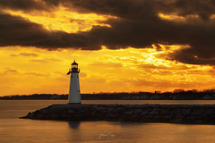 The Great South Bay (NYRBlue94) Tags: longisland lighthouse light goldenhour gold bay water sunset evening
