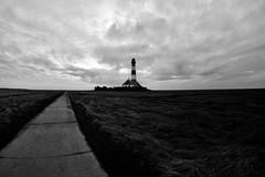 Lighthouse Westerheversand (kuestenkind) Tags: leuchtturm lighthouse westerhever westerheversand stpeterording nordsee northsea norddeutschland northgermany schwarzweis bnw bw schleswigholstein fisheye weitwinkel canon 6d 12mm