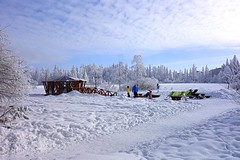 colors in the snow (majka44) Tags: snow people slovakia winter colors light february seat nature tree forest building landscape mood atmosphere yellow blue green sky cloud memory day cold frozen white hightatras vysoketatry tatry view country life scapes outside