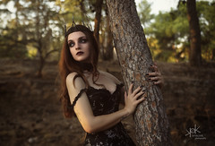Victorian/Goth Portraits with Popi Dawn (Tree/Park) (SpirosK photography) Tags: portrait female goth park victorian popidawn sunset trees spiroskphotography nikon d750 strobist tree black