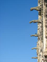 Gargouilles (balese13) Tags: berry bourges canon cher s3is saintetienne yourbestoftoday balese bleu blue cathédrale centre gargouille pierre pixelistes powershot 250v10f 500v20f 1000v40f 1500v60f