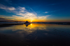 Baskenland0174Sopela (Harald Schulz) Tags: travel spain bilbao espana basque spanien reise baskenland ocean sky beach water rock strand outside meer wasser sonnenuntergang himmel felsen atlantik blaue stunde blue hour