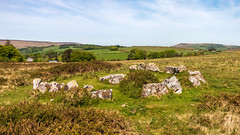 Cairn Circle & Cist near Hound Tor, Dartmoor