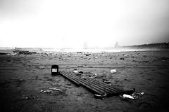 Sand and Water (TransientEye) Tags: barcelona españa spain beach playa platja blackandwhite leicam10 28mmf2summicronf2asphii sea storm