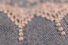 painted dimensional dots HMM (Dotsy McCurly) Tags: macromondays painted hmm happymacromonday bluejeans jeans jacket lace dimensional fabric paint 3d opalescent macro canoneos80d efs35mmf28macroisstm