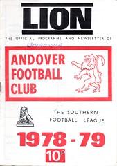 Andover v Waterlooville (Havant & Waterlooville) Tags: havant waterlooville andover southern league football programme