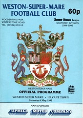 Weston Super Mare v Havant Town (Havant & Waterlooville) Tags: havant waterlooville weston super mare southern league football programme