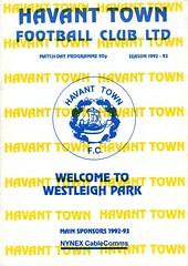 Havant Town v Witney Town (Havant & Waterlooville) Tags: havant waterlooville southern league football programme witney town