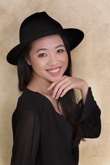 Lisa happy (piotr_szymanek) Tags: portrait woman face studio skinny young lisa lisan eyesoncamera smile longhair naturallight brunette enthusiasm