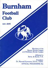 Burnham v Waterlooville (Havant & Waterlooville) Tags: havant waterlooville burnham southern league football programme