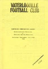 Waterlooville v Sholing Sports (Havant & Waterlooville) Tags: havant waterlooville sholing sports hampshire combination league football programme