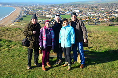 Family group on Seaford Head (davids pix) Tags: seaford head newhaven harbour town panorama storm ciara family picture nikon 5100 2020 08022020