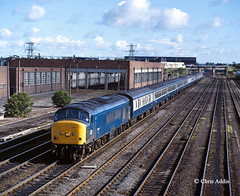45145 Passes Darlington MPD (chrissyMD655) Tags: class 45 peak 45145 br blue era darlington mpd ecml