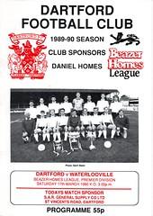Dartford v Waterlooville (Havant & Waterlooville) Tags: havant waterlooville dartford southern league football programme