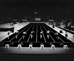 The Power (Filling the frame with POWER) (freundsport) Tags: sport run competition start black blackandwhite people