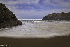 Devil's Kitchen (cdcguard) Tags: coast coastal oregon devilskitchen bandon pacific slowshutter motion waves clouds rocks beach surf