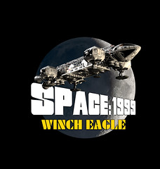 Winch Eagle Art (Tenement01) Tags: eagle transporter eagletransporter gerryanderson gerry anderson sciencefiction science fiction scifi cgi spaceship space1999 space 1999 brianjohnson brian johnson moon