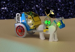 Febrovery 2020 Day 10: Buggy (Littlepixel™) Tags: ncs rover buggy moon lego classic neo horse trap cart robot bennymoon renderfebrovery ldraw space afol moc