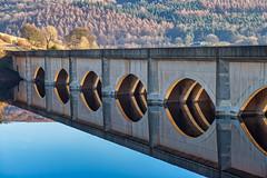 Ladybower Reservoir (gmorriswk) Tags: england hope unitedkingdom bridge reflections reservoir ladybower viaduct