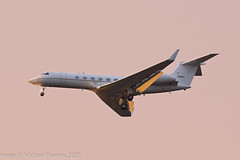 97-0401 - 1998 build Gulfstream 5 (C-37A), on approach to Runway 23R at Manchester (egcc) Tags: 542 70401 970401 bizjet c37a egcc gulfstream lightroom man manchester ringway sam053 usairforce usaf