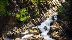 Conwy Falls (Aron Radford Photography) Tags: blue conwy falls waterfall river water valley wales snowdonia betwsycoed landscape uk nature forest flowing